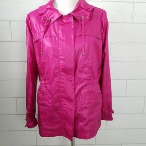 Chico's Zenergy Size 2 Jacket Pink Medium Nylon